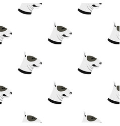 Bull terrier dog pattern seamless vector