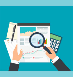 Business analyst financial data analysis vector