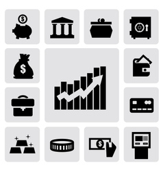 business financial icons vector image