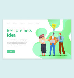 business site template making financial decisions vector image