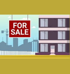 cartoon apartment for sale vector image