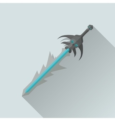 Cartoon Game Sword with Shadow War Concept vector image
