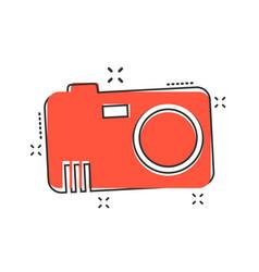 cartoon photo camera icon in comic style vector image