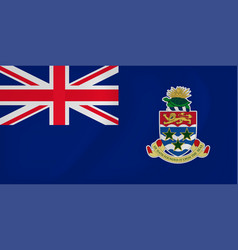 Cayman islands waving flag vector