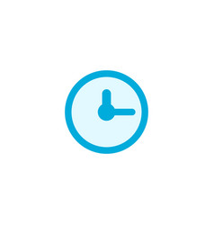 Clock icon time icon stock isolated on white vector