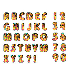 colorful alphabet isolated font vector image