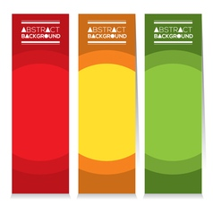 Colorful Set Of Three Abstract Vertical Banners vector image