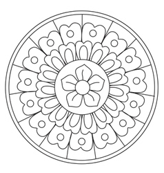 Coloring Beauty Floral Mandala vector