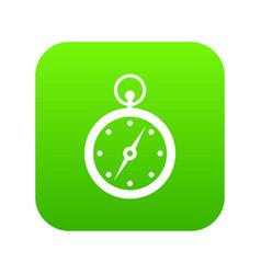 compass icon digital green vector image