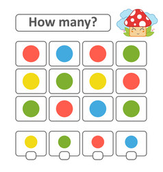 counting game for preschool children count as vector image
