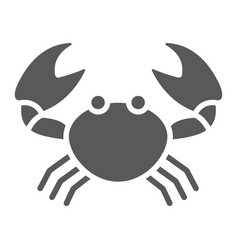crab glyph icon animal and underwater vector image