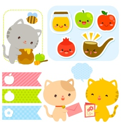 Cute set for rosh hashanah vector