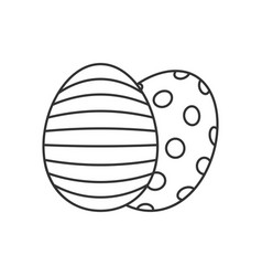 Easter eggs line icon vector
