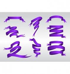 elegant ribbon icons vector image