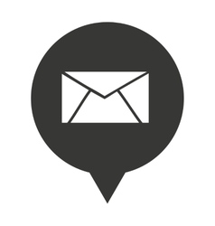 envelope speech bubble isolated icon vector image
