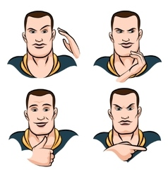 Face Expression set vector image