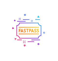 Fastpass line icon amusement park ticket sign vector