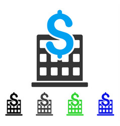 Financial company building flat icon vector
