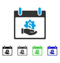 Financial development hand calendar day flat icon vector