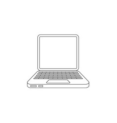 flat hand drawn laptop computer icon vector image