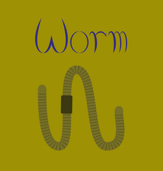 Flat on background worm vector