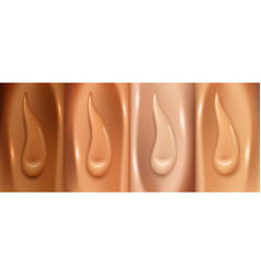Foundation make up swatches different color vector