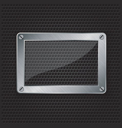 Glass frame grill border vector