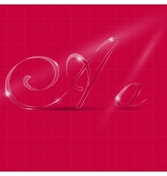 Glass Italic Letters vector