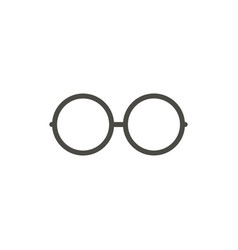 glasses icon line eyeglasses symbol vector image