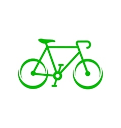 Green bicycle icon simple style vector