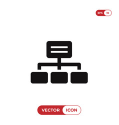 Hierarchical structure icon vector