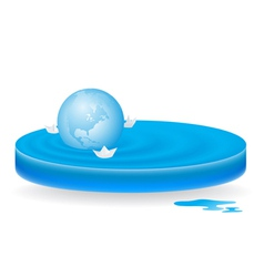 icon wave sphere vector image