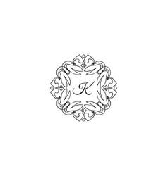 k letter logo monogram design elements line art vector image