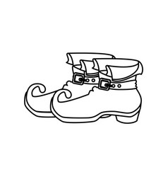 leprechaun boots isolated icon vector image