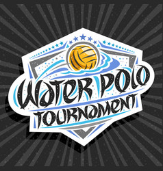 Logo for water polo tournament vector