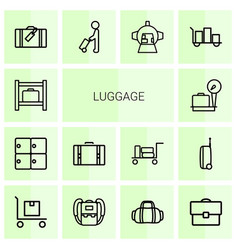 Luggage icons vector