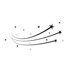 magic star dust trail star glitter shoot vector image