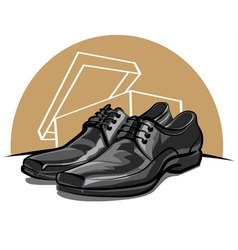 men shoes vector image