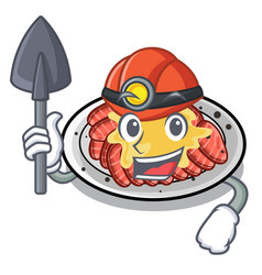 Miner carpaccio isolated with in mascot vector