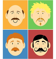 Mustache faces vector image