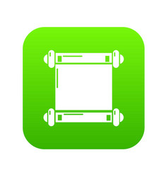 old scroll parchment icon green vector image