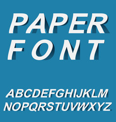 paper font design for typographyon vector image
