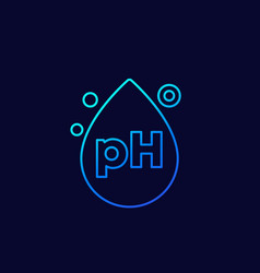 Ph icon with a drop line vector