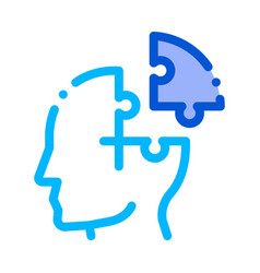 puzzle detail man silhouette headache icon vector image