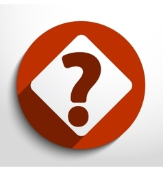 question web flat icon vector image