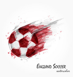 Realistic watercolor painting of powerful england vector
