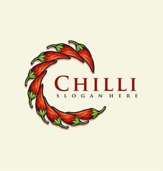 red chilli modern logo for your restaurant vector image