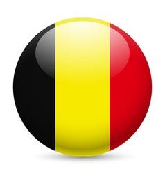 Round glossy icon of belgium vector
