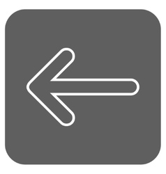 Rounded Arrow Left Flat Squared Icon vector