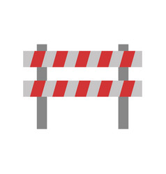 Safety barrier icon vector